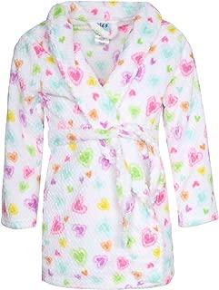 Girl's Coral Fleece Printed Medium Length Robe