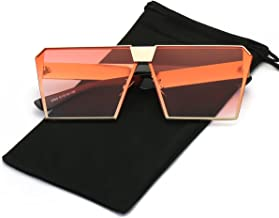 LKEYE - Unique Oversize Shield Vintage Square Sunglasses LK1705