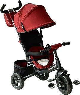 comprar comparacion HOMCOM 3 EN 1 Triciclo para Niños +18 Meses Triciclo con Pedales con Capota Extraíble Plegable Barra Telescópica para Padr...
