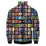 Super Smash Bros Pullover Airy Sudaderas impresión de la Letra Coats cómodo Chaquetas Neto Sudadera roja de Manga Larga suéter Estilo Occidental Outwear Unisex Unisex (Color : A01, Size : S)