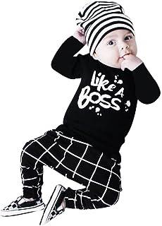 QinMM Baby Junge Kleidung Outfit, Beschriftung gedruckt Lange Ärmel T-Shirt Tops  Hosen Set