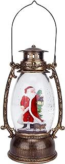 santa claus led glitter lantern