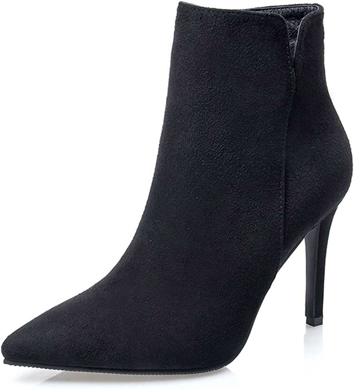 Colnsky Women's Sexy Pointed Toe Booties Stiletto High Heels Side Zipper Ankle Boots