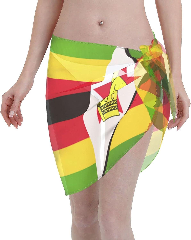 Women Short Sarongs Beach Wrap,Women's Birds, Peonies, Mimosa, Roses, Hydrangea Sheer Bikini Wraps Chiffon Cover U