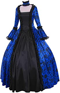 Womens Medieval Dress Renaissance Costume Irish Retro Gown Cosplay Costumes Fancy Long Dress