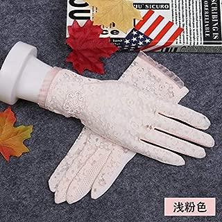 Color : Black, Size : One size Guantes de protecci/ón solar UPF50 Guantes sin dedos el/ásticos transpirables antideslizantes