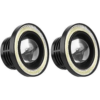 2 pcs Luz de Niebla del Coche Universal 30W LED COB Luz Blanca Ojos de Angel 3.5 Pulgada Faros Antiniebla Coche