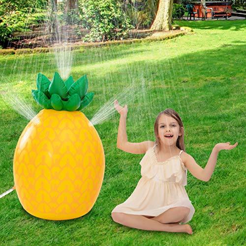 """JOYIN Inflatable Tropical Pineapple Sprinkler, 35"""" Lawn Sprinkler for Kids Water Toy for Boys Girls Water Party Outdoor Sprinkler for Water Fun"""