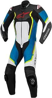 Alpinestars Motegi V2 1pc Race Suit Black/White/Blue/Fluorescent Yellow EU54 / US44 (More Size Options)