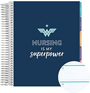 """$66 » 18 Month 7"""" x 9"""" Spiral Coiled Horizontal Weekly Life Planner/Agenda (July 2021 - December 2022). Nursing is My Superpower..."""