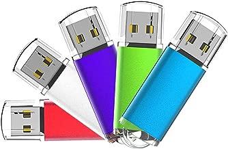 Aiibe 5 Pack 32GB Flash Drive USB Flash Drive 32 GB USB 2.0 Thumb Drive USB Drives 32GB (5 Mixed Colors: Silver Red Blue Green Purple)