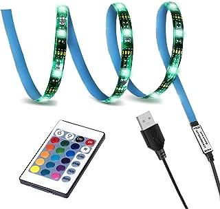 LED TV Backlight,SMY USB LED Strip Light,RGB Multi-Colour LED Light Strip Kit Waterproof IP65, 30LED with Wireless Remote Controller for TV/PC/Laptop Bias Lighting (3.28Ft)