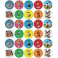 30 obleas comestibles para cupcakes, diseño de la Patrulla Canina