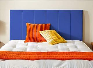 H-Cube Meble Divan łóżko podstawa zagłówek ze sztucznej skóry 110 cm seria montowana na ścianie (królewski niebieski – 1,5...