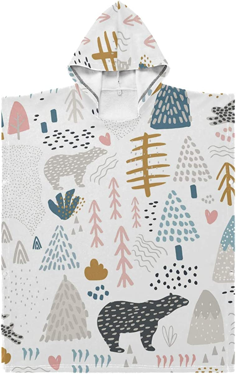 LORONA Bears Forest Pattern Kids Max 47% OFF outlet In Teens Blend Polyester-Cotton
