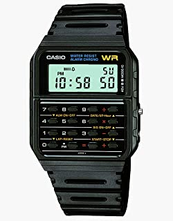 Casio Calculator Unisex Digital Dial Rubber Band Watch - CA53W-1