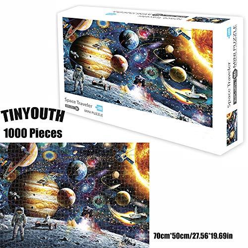 TINYOUTH 1000 Teile Weltraum Puzzle für Erwachsene, Planeten Puzzle, Karton Puzzle, Herausforderung Puzzle, Keine Farb oder Druckfehler, Lernspiel Stressabbau Schwieriges Spiele Puzzle für Kinder