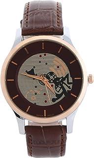ساعة يد كاجوال بسوار جلدي للرجال من كاريزما، C66588