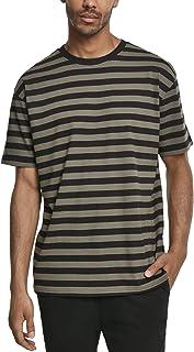 Urban Classics Men's Oversized Yarn Dyed Bold Stripe Tee T-Shirt
