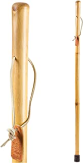 Brazos Free form Iron Bamboo Walking Stick, For Men and Women, Lightweight, Handcrafted in the USA, 48 inches, Natural