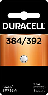 Duracell – 384/392 1.5V Silver Oxide Button Battery – long-lasting battery – 1 count