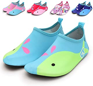E-FAK Toddler Kids Swim Water Shoes Barefoot Aqua Socks Shoes for Beach Pool Surfing Yoga Quick Dry Non-Slip Aqua