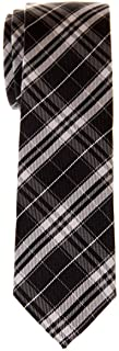 Stylish Plaid Checkered Woven Microfiber Skinny Tie - Various Colors
