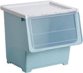 OJPOGHU Toy Storage Boîte de Rangement Boîte de Rangement Boîte de Rangement en Plastique Ouvrir Boîte Boîte Panier 43x33x...
