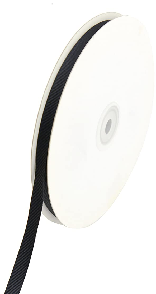 Creative Ideas Solid 3/8-Inch Grosgrain Ribbon, 50-Yard, Black