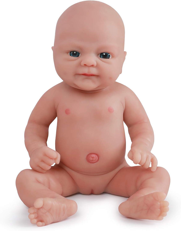 Vollence 36 cm Lebensechte Reborn Babypuppen, die echt Aussehen, PVC-frei, Echte realistische Baby Puppe mit vollgewichtetem Krper, handgefertigte süe Baby-Puppe mit Kleidung - Mdchen