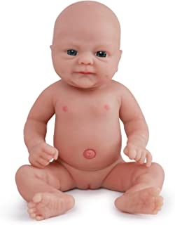 Vollence 14 Inch Realistic Real Baby Doll,PVC Free,Full Body Silicone Baby Dolls,More Like Real Kids,Handmade Lifelike Soft Alive Baby Doll with Clothes - Girl