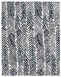 "Diagona Modern Floral Design 8X10 Area Rug, 92"" W x 116"" L, Ivory/Multi"