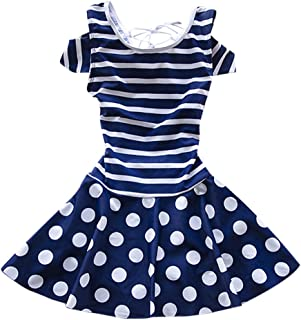 Zhhlaixing Baby Girls Elastic Cute Siamese Swimsuit 児童 Stripe Polka Dot 水着 水泳のコスチューム