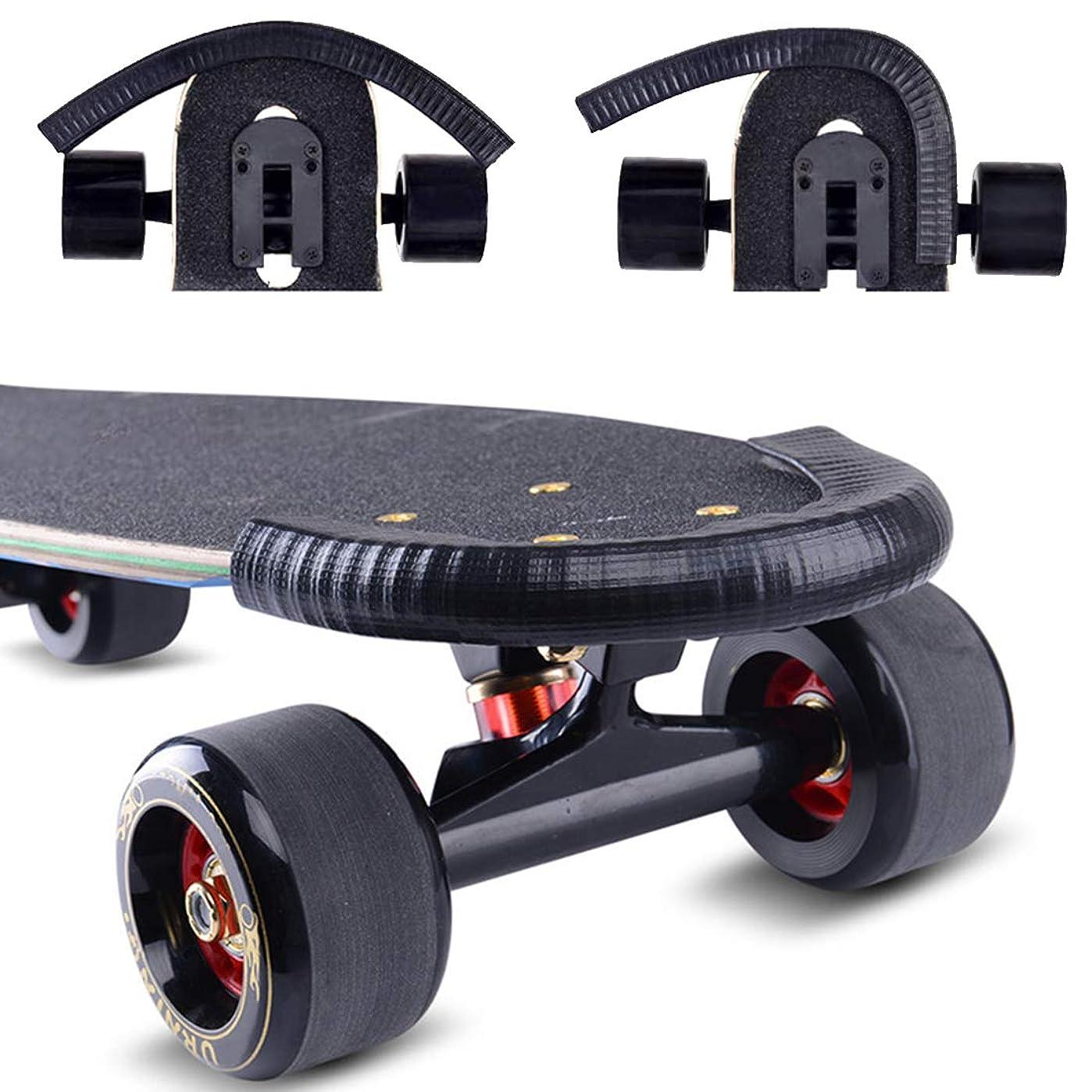 背景わずらわしい公平なAcoser スケートボードデッキガードプロテクター ロングボードノーズガード保護 丈夫な衝撃吸収ラバーカバー 優れたテールガード 子供 男の子 女の子 若者 初心者用 (2個パック)