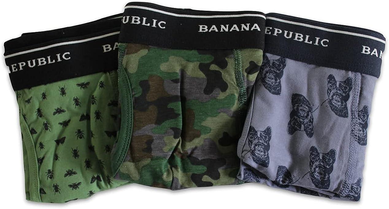 Banana Republic Men's 3 Pack Set Boxer Briefs (Medium M Med.) Mens Brief Underwear Lot
