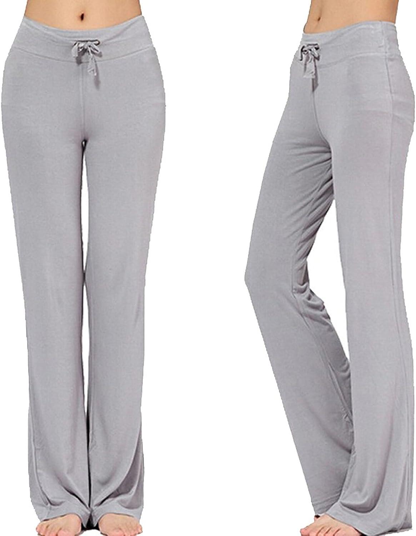 Women's Long Modal Comfy Drawstring Trousers (XXXL Light Grey)