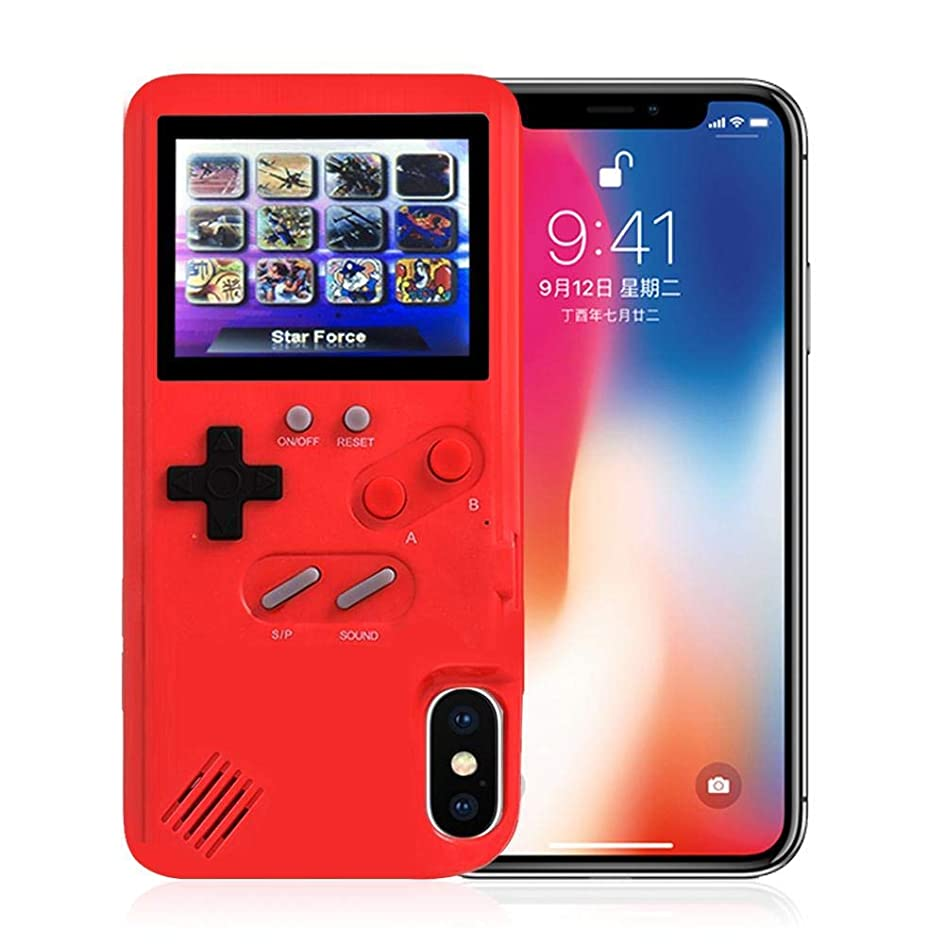 味わう記事階段iPhone用ゲームボーイケース、36の小さいゲーム、フルカラーディスプレイ、iPhone X/Xs/MAX/Xr / 6/7/8用のゲームケース(ホワイト、iPhone XR)