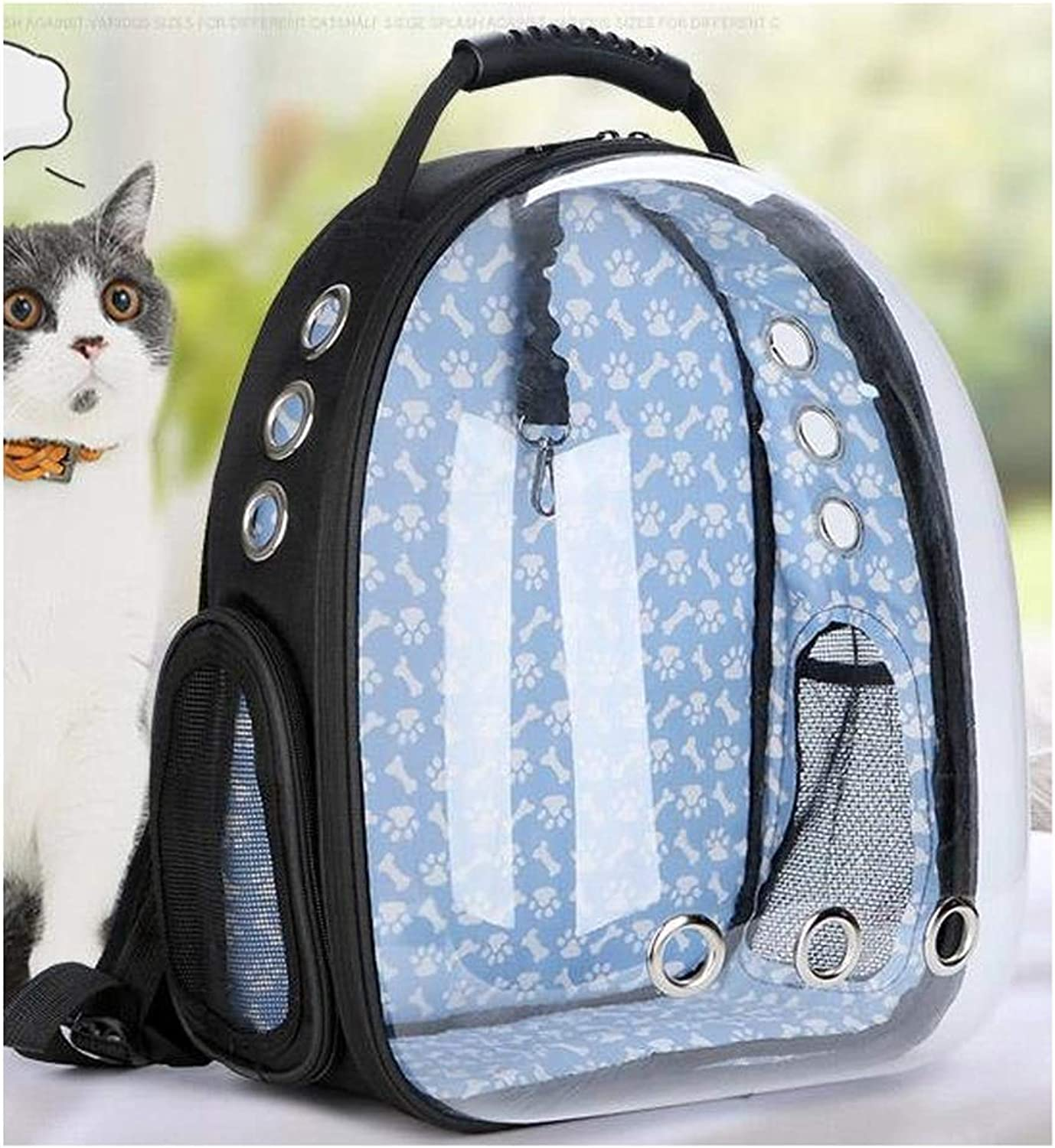 LSXLSD Astronaut Pet Cat Dog Puppy Carrier Travel Bag Space Capsule Backpack BreathableAdopting Environmentallyfriendly PC Material