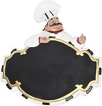 Voluxe Quadro de mensagens para chef, decoração de chef, estatuetas de cozinheiro francês regraváveis para cozinha de café...