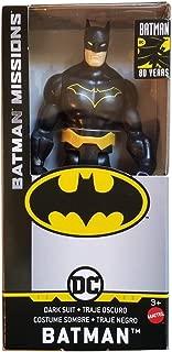 "DC Comics Batman Missions 6"" Inch Batman (Dark Suit) Basic Action Figure in Window Box"
