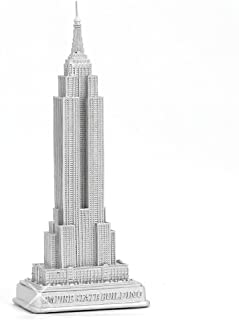 Empire State Building Statue from New York City Silver 23cm NYC Statues Collection