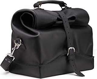 Mens Overnight Leather Carry On Travel Duffel Bag Includes 100 Year Warranty