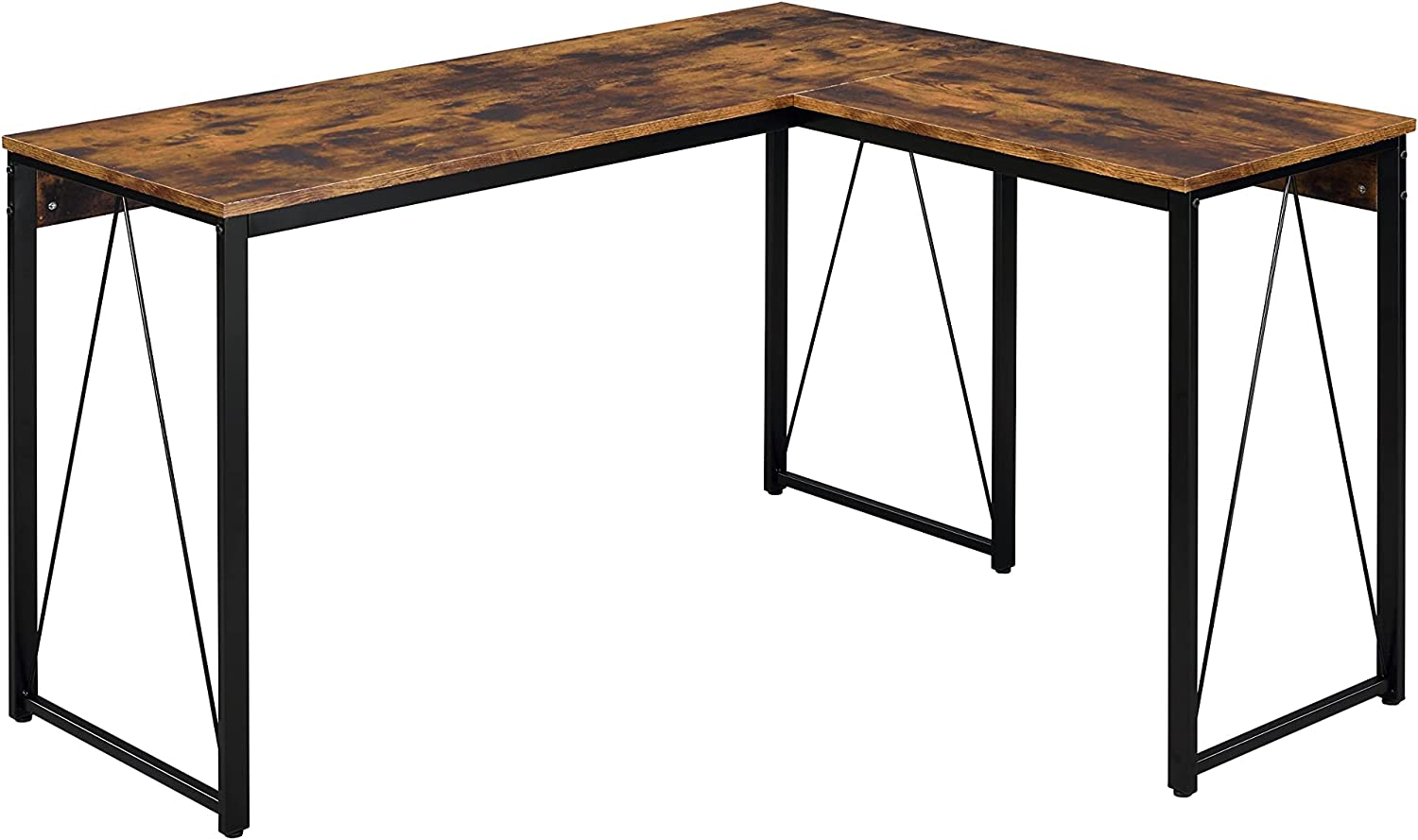 Writing Desk in Popular products Rustic Ranking TOP17 Oak and Stu Metal Frame with Finish Black