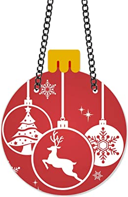 TheYaYaCafe Christmas Gifts Decoration Ornaments Snowflakes Reindeer Wall Door Hanging - 13x11 inches