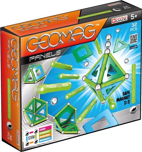 Geomag- Panels Gioco di Costruzione Magnetico, Multicolore, 32 Pezzi, PF.520.460.00