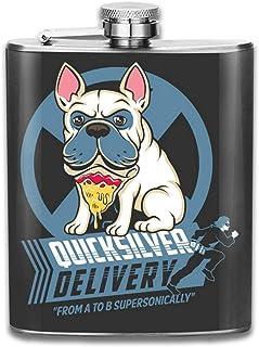 X Men Quicksilver - Petaca de acero inoxidable portátil con diseño de perro pizza
