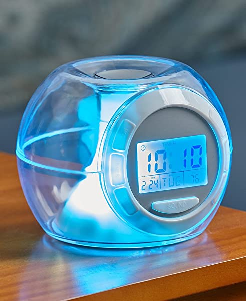 The Lakeside Collection Color Changing Alarm Clock