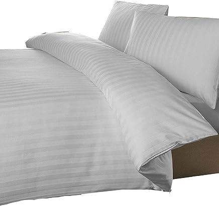 Tour de lit en polycoton gris anthracite haut de gamme 68/Pick Textile Online charbon 50 /% polyester King 50 /% coton