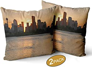 Serenity in The City of Calgary Pillow Case,102972 Sofa Bed Throw Cushion Cover Decoration,18