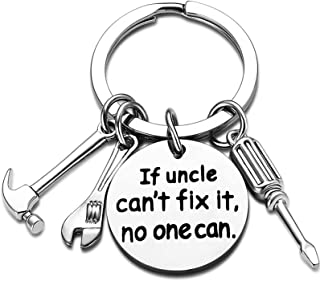 Uncle Keychain Uncle Gifts from Nephew Niece Keyring Uncle (If Uncle Can't fix it, no one can)